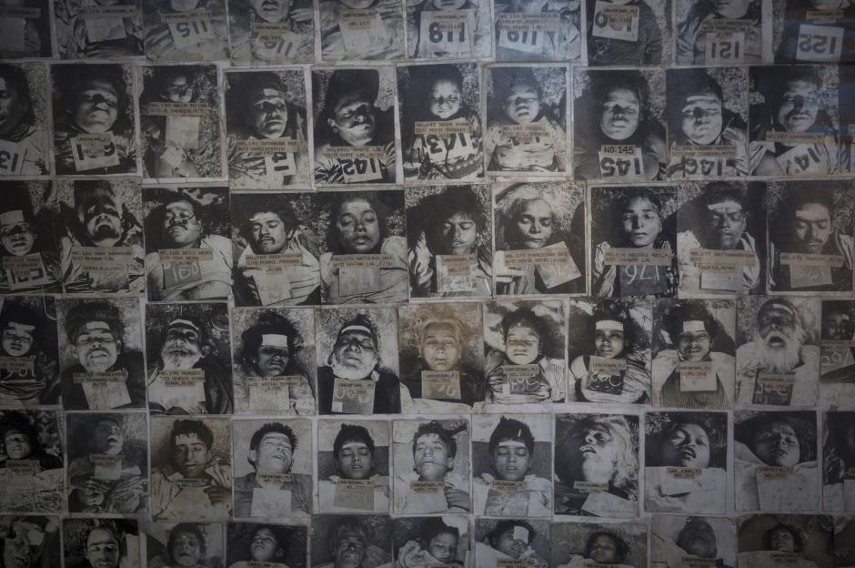 A few of the victims of Bhopal catastrophe.