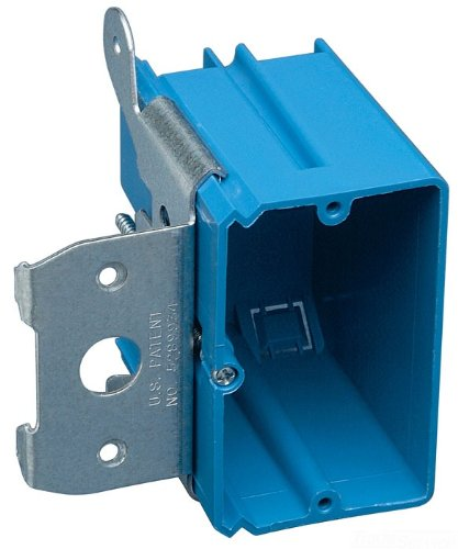 Carlon B121ADJ Outlet Box, New Work, 1 Gang, 3-3/4-Inch Length by 3-7/8-Inch Width by 3-3/8-Inch Depth