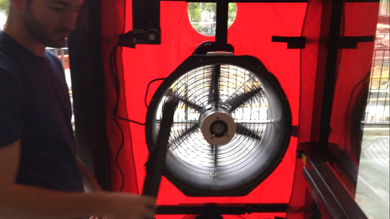 Blower door test being completed on June 3rd. & How Many Blower Door Fans Does It Take to Test a 26 Story Tower ...